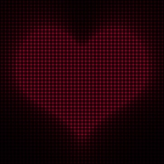 Valentine heart pointillés