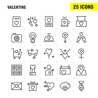 Valentine line icon pack pour les concepteurs et les développeurs. icônes du calendrier, amour, romantique, saint valentin, thé, coupe, romantique, saint valentin,