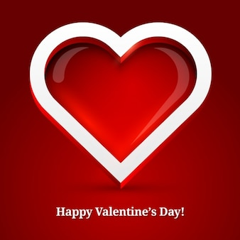 Valentine lumineux fond de coeur