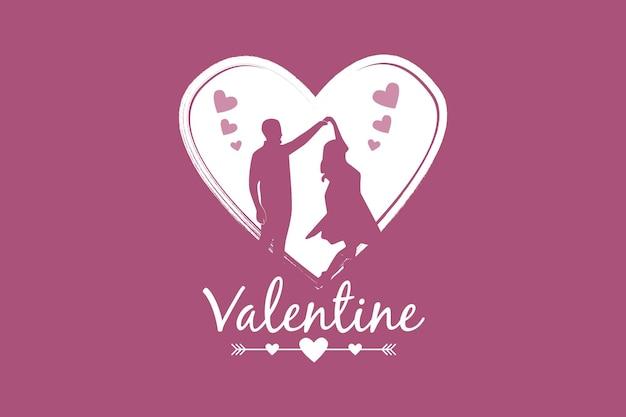 .valentine, maquette de marchandise mignonne