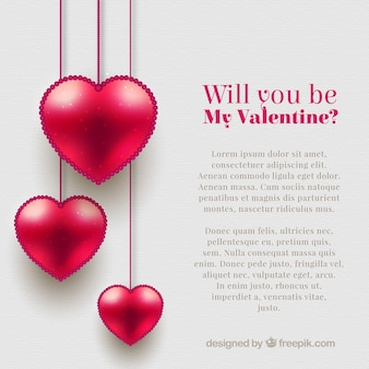 Valentine modèle de fond avec des coeurs roses