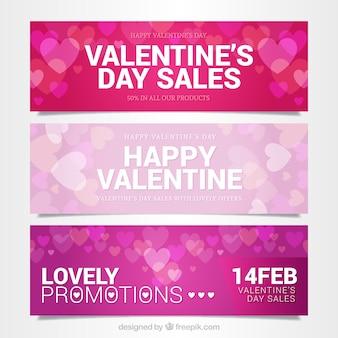 Valentine offre bannières pack