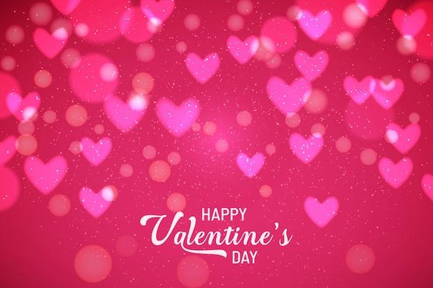 Valentine's background avec des coeurs brouillés