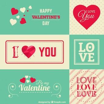Valentine salutations de papeterie