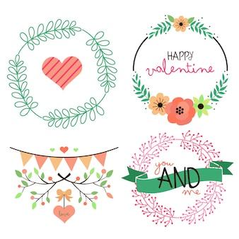 Valentine sign et typographie