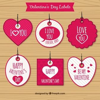 Valentines balises jour de formes