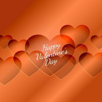 Valentines heureux carte du jour