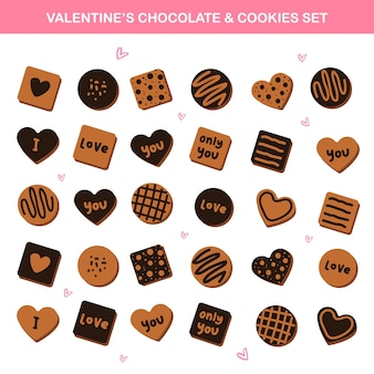 Valentines vector elements - bonbons