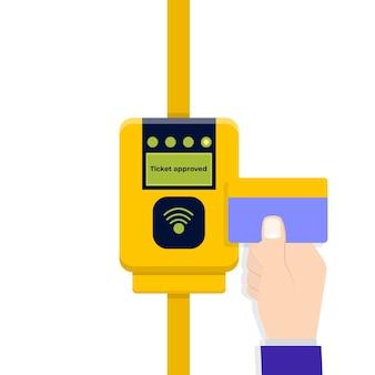 Validation des tickets de carte paiements sans contact