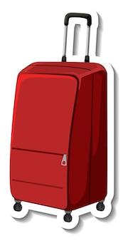 Valise en plastique de voyage avec autocollant de dessin animé de roue
