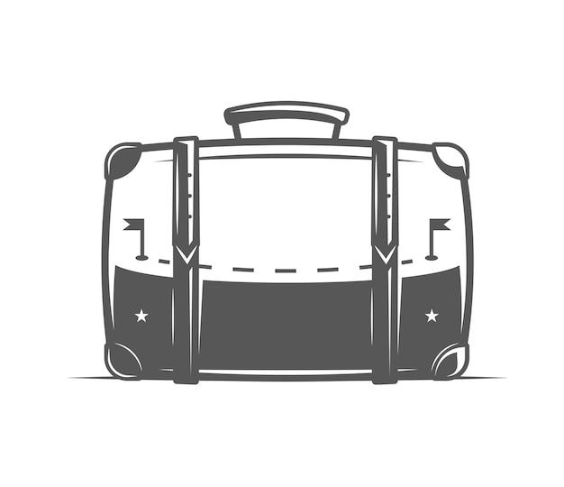 Valise de voyage isolée sur fond blanc.