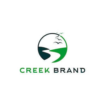 Vallée logo creek rivière ronde