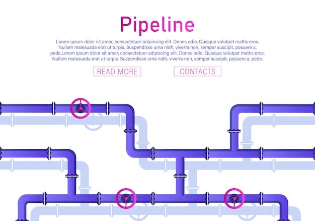 Valve, connecteurs de tuyaux, mètres, ensemble de vecteurs de détails de tuyaux.