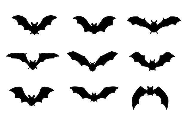 Vampire chauve-souris. silhouette effrayante de chauve-souris fantôme voler pour sucer le sang à l'halloween.
