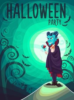 Vampire dracula pour halloween affiche