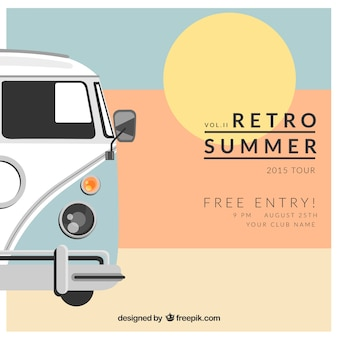 Van affiche pour l'été