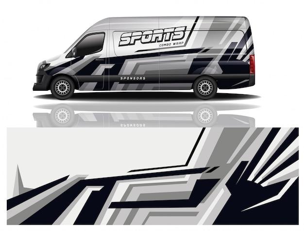 Van design voiture wrap design vecteur