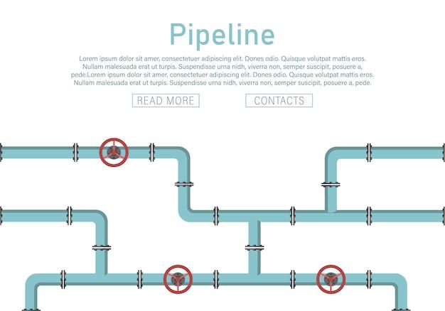 Vannes, raccords de tuyaux, compteurs, ensemble de détails de tuyaux.
