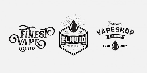 Vape badge logo vintage