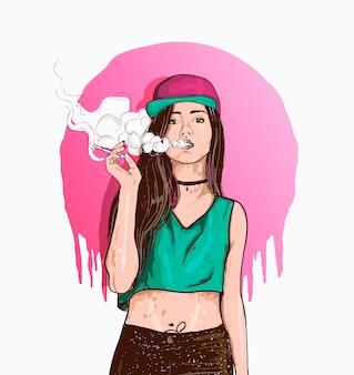 Vape swag girl