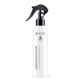 Vaporisateur blanc bouteille cosmétique bouchon de distributeur noir