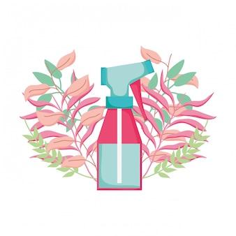 Vaporisateur avec décoration florale
