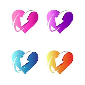 Variation du logo couleur du cœur