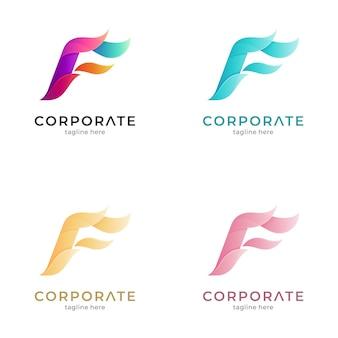 Variation du logo dégradé fire letter f