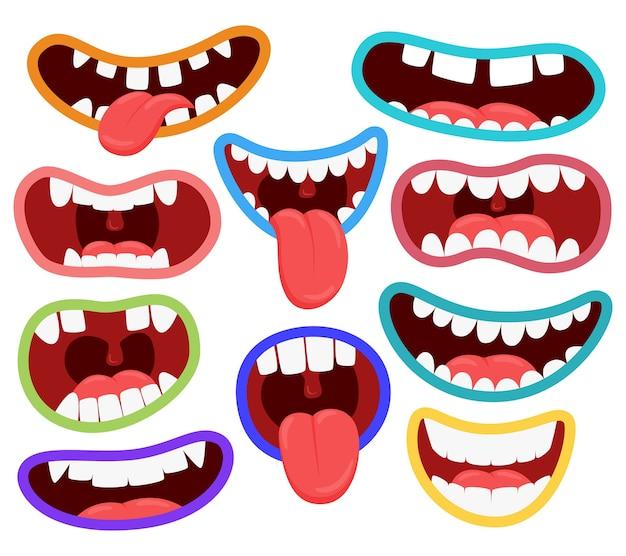 Variations de la bouche des monstres