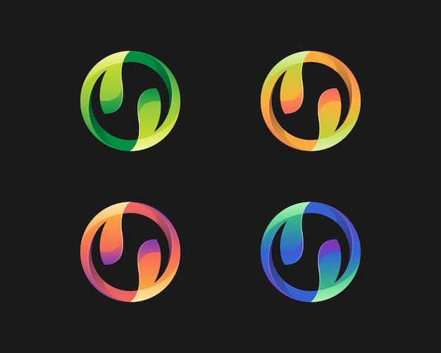 Variations du logo de feuilles colorées