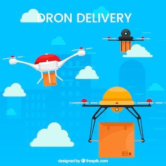Variété amusante de drones de livraison