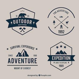 Variété d'aventure badges pack