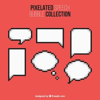 Variété de ballons de la parole pixelated