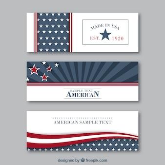 Variété de bannières américaines