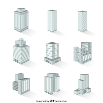 Variété de bâtiments