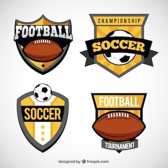 Variété de boucliers de footbal