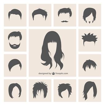 Variété de coiffures