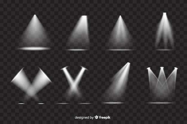 Variété de collection de projecteurs de théâtre