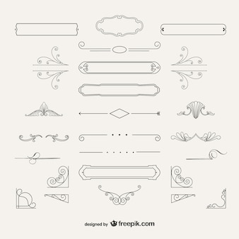 Variété de décorations ornementales