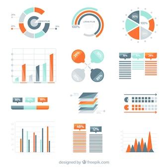 Variété de diagrammes infographiques