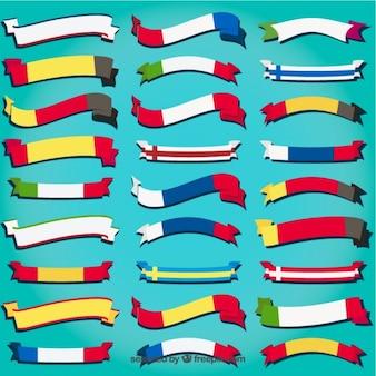 Variété de drapeaux