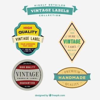Variété d'étiquettes en style vintage
