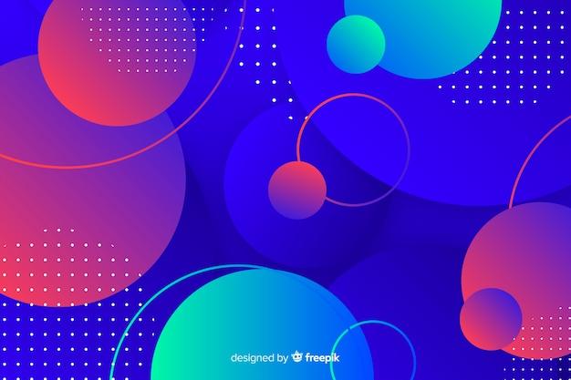 Variété de fond coloré de sphères