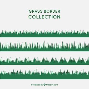 Variété des frontières de l'herbe à plat