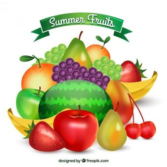 Variété de fruits d'été