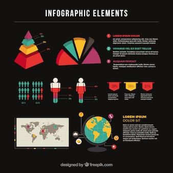 Variété de graphiques colorés