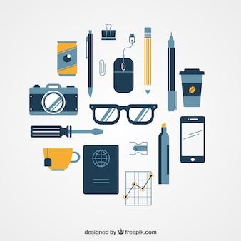 Variété des icônes d'affaires