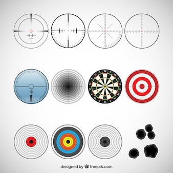 Variété des icônes cibles
