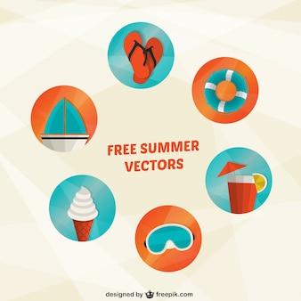 Variété des icônes d'été