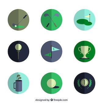 Variété des icônes de golf